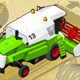 Isometric Green Thresher at Work in Rear View - GraphicRiver Item for Sale