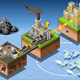 Isometric Infographic Carbon Energy Harvesting - GraphicRiver Item for Sale