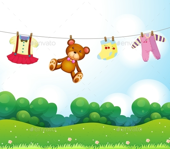 GraphicRiver Baby Things Hanging 9995031