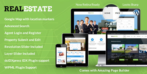 RealEstate - Responsive Real Estate Theme - Real Estate WordPress