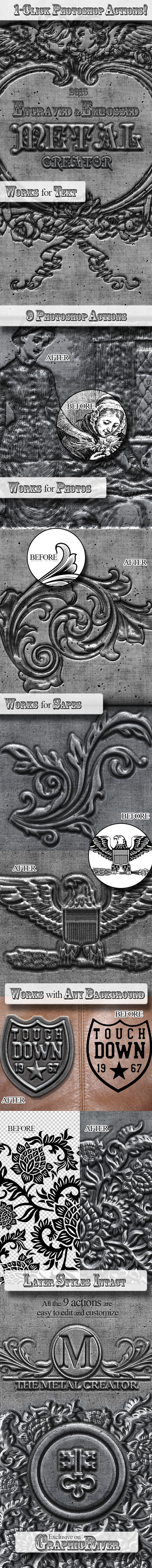 GraphicRiver Engraved Metal Photoshop Creator 9995253