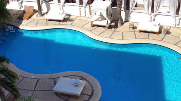 Luxury Boutique Hotel Pool Day Beds Mexico 2