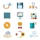 Flat Data Icons - GraphicRiver Item for Sale