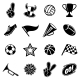 Sports Icons and Fans Equipment - GraphicRiver Item for Sale
