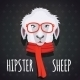 Sheep Hipster Dressed in Red Scarf - GraphicRiver Item for Sale