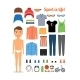 Sport Boy with Clothing and Equipment  - GraphicRiver Item for Sale