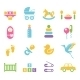 Simple Children Toys and Accessories Icons - GraphicRiver Item for Sale