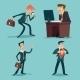 Vintage Businessman Characters Set - GraphicRiver Item for Sale