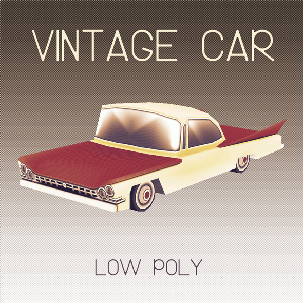 Vintage Car Low Poly
