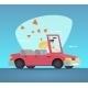 Cartoon Convertible Car Couple - GraphicRiver Item for Sale