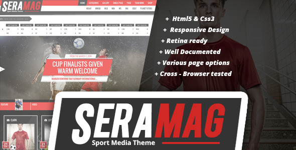 ThemeForest Seramag professional sport HTML5 template 9729824