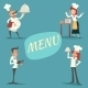 Happy Smiling Male and Female Cooks and Waiters - GraphicRiver Item for Sale