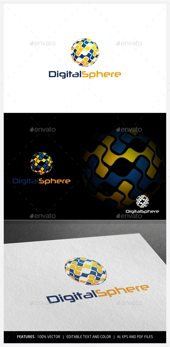 GraphicRiver Digital Sphere Logo 9995912