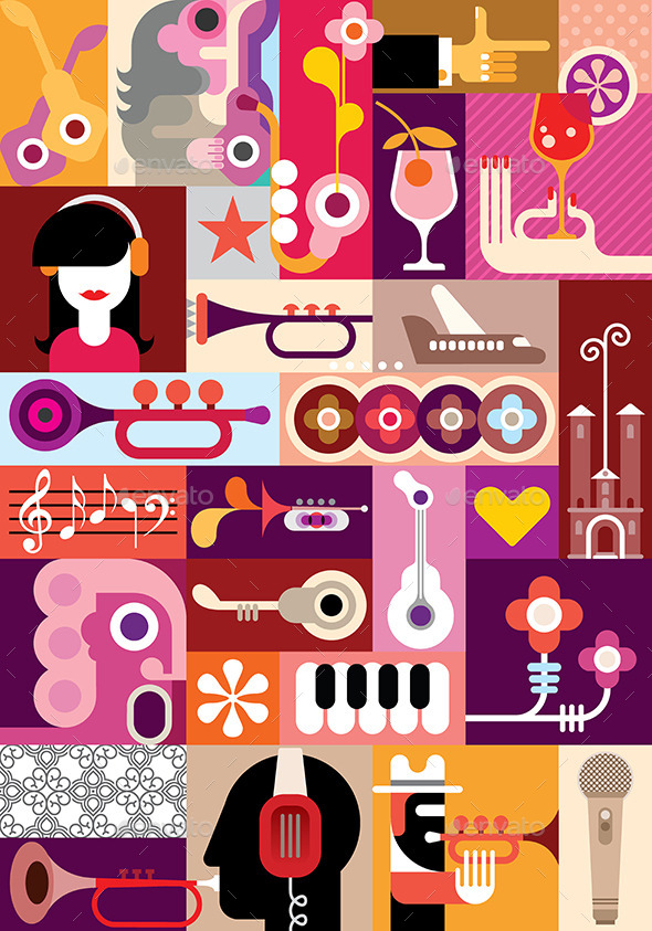 GraphicRiver Music Art Collage 9995924