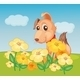 Dog and Flowers - GraphicRiver Item for Sale