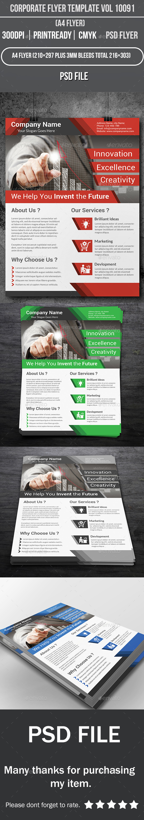 GraphicRiver Corporate Flyer Template Vol 10091 9995940