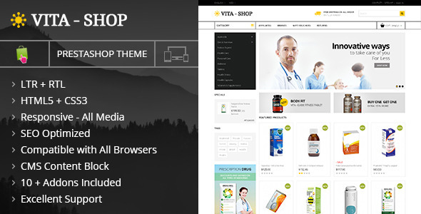 ThemeForest Vita Shop Prestashop Responsive Theme 9995974