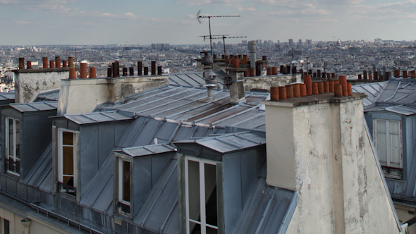 Montmatre Rooftops Paris France 2