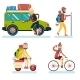 Geek Hipster Character Travelling - GraphicRiver Item for Sale