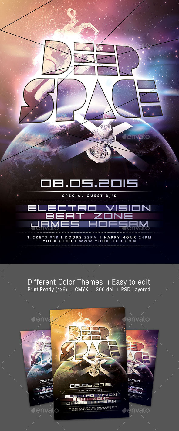 GraphicRiver Deep Space Flyer 9996098