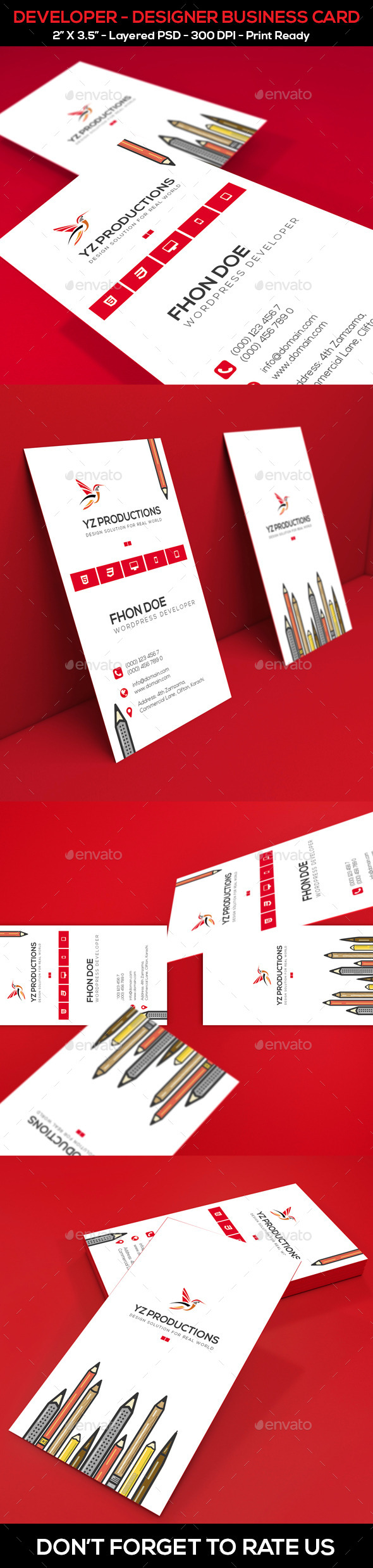 GraphicRiver Developer Designer Business Card 9996122