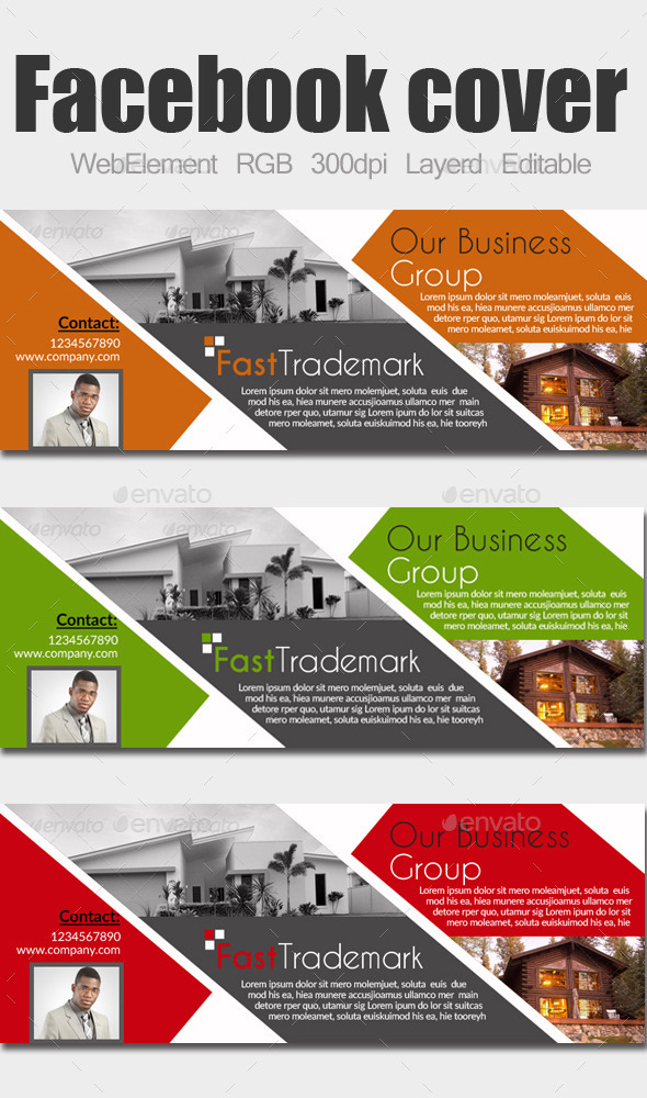 GraphicRiver Multi Use Business Facebook Cover 9996204