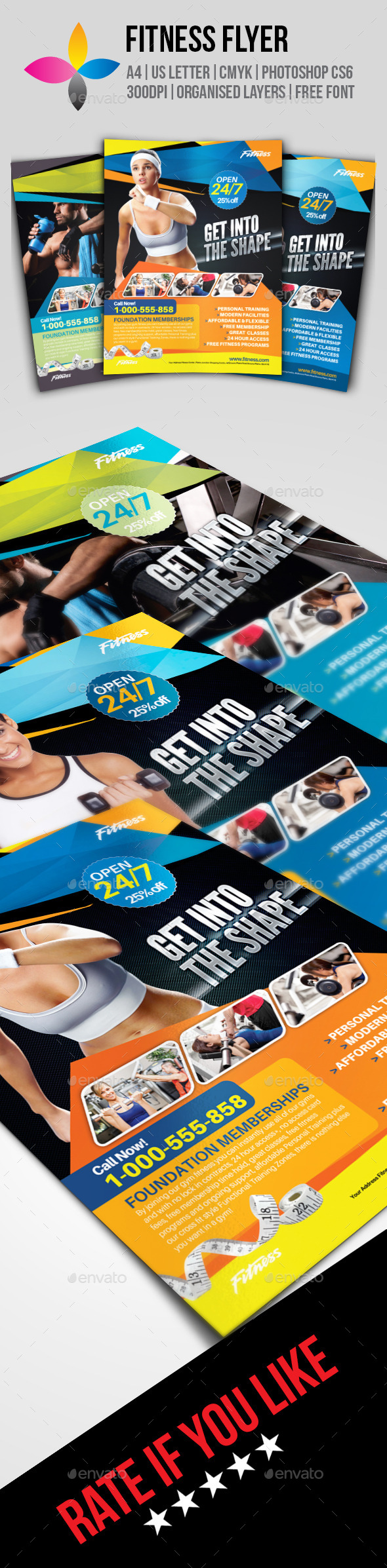 GraphicRiver Fitness Flyer 9978126