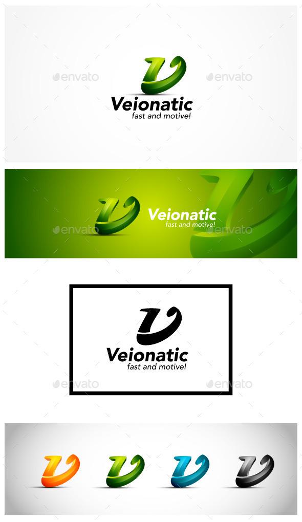 GraphicRiver 3D Letter V Logo 9996463