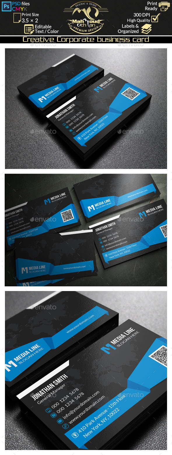 GraphicRiver Creative Corporate Business Card 67 9996490
