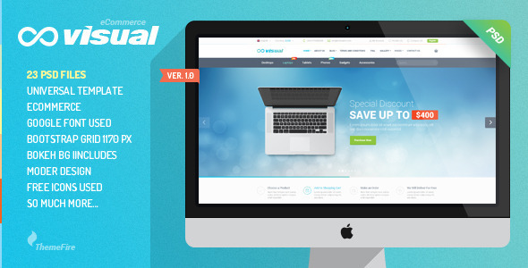 ThemeForest Visual eCommerce PSD Template 9996656