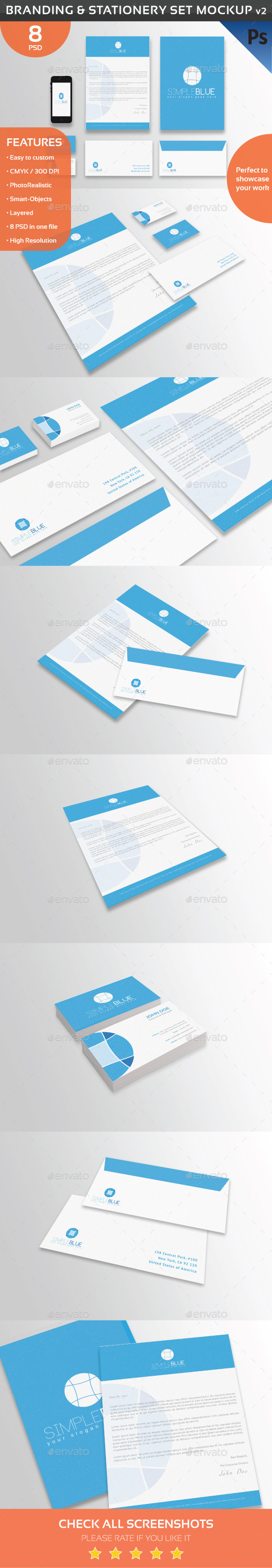 Branding & Stationery Set Mockup v2