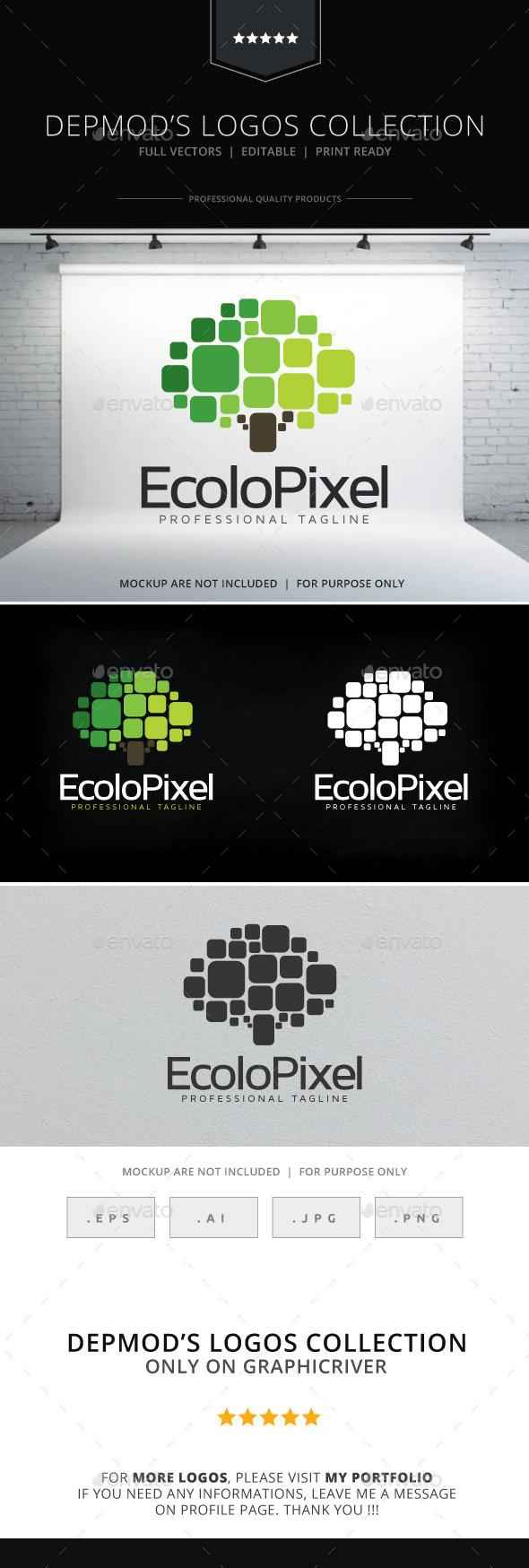 GraphicRiver Ecolo Pixel Logo 9996998