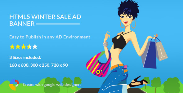 CodeCanyon Winter Sale HTML5 Ad Template 9996999
