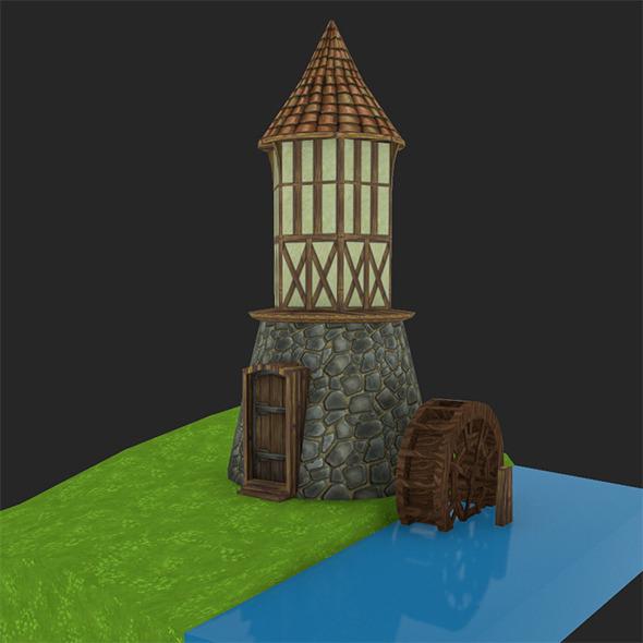 3DOcean Medieval watermill 9902142
