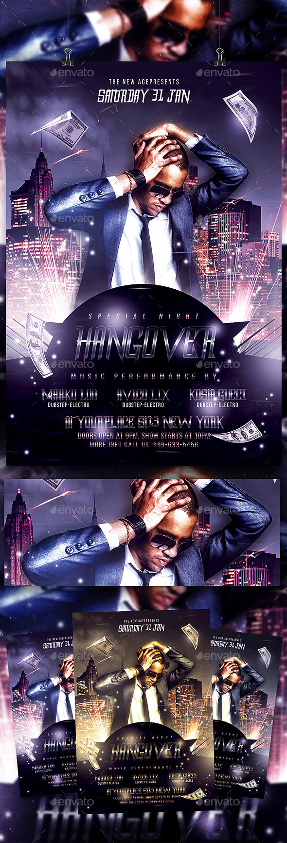 Special Night Hangover Flyer Template
