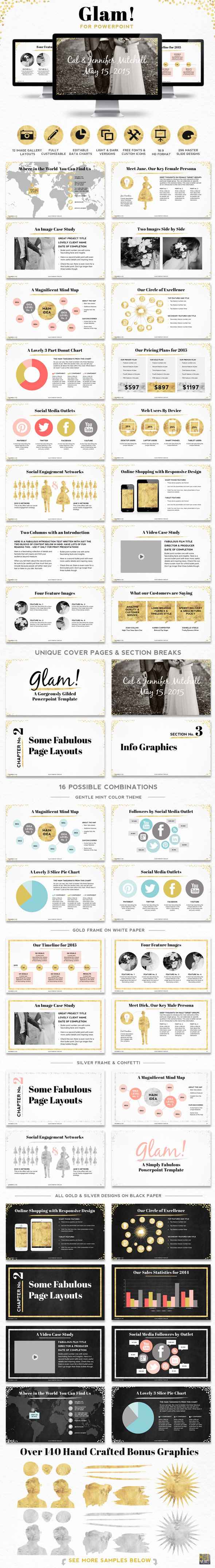 GraphicRiver Glam Powerpoint Presentation Template 9997018