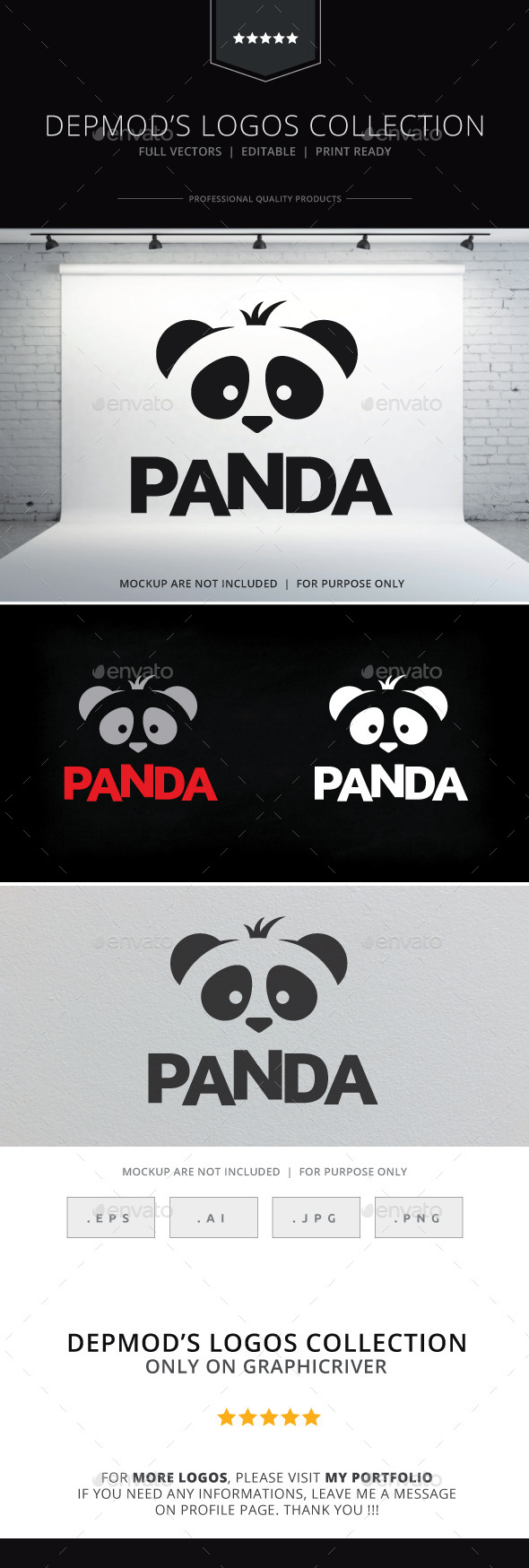 GraphicRiver Panda Logo 9997031