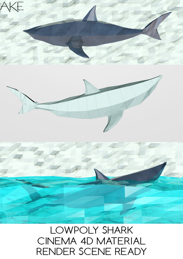 LowPoly Shark - 3DOcean Item for Sale