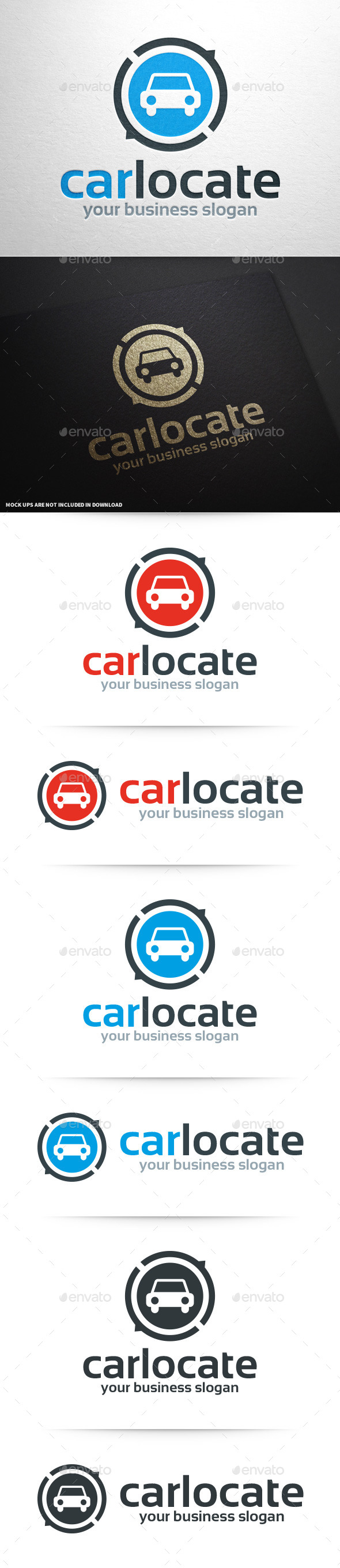 Car Locate Logo Template