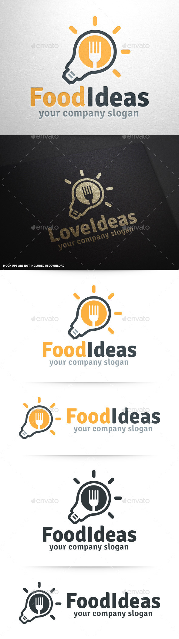 GraphicRiver Food Ideas Logo Template 9997284