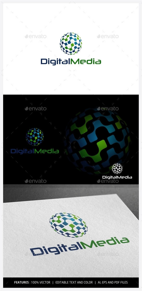 GraphicRiver Digital Media Logo 9997323