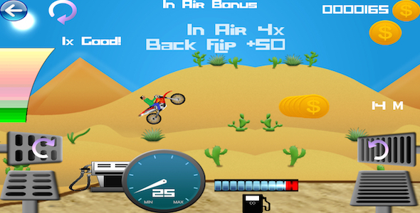 CodeCanyon Hill Climb Bike Chipmunk Physics Game 9997328
