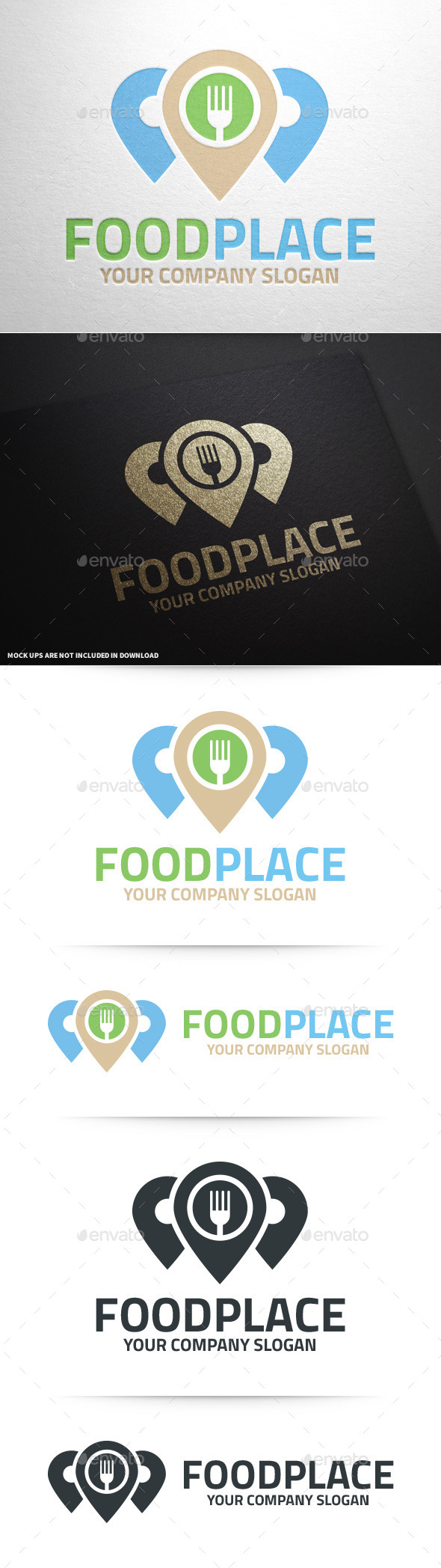 Food Place Logo Template