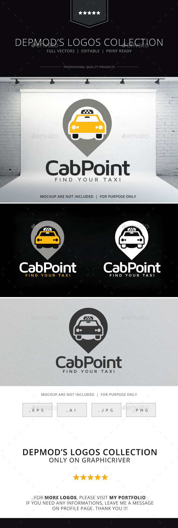 GraphicRiver Cab Point Logo 9997539