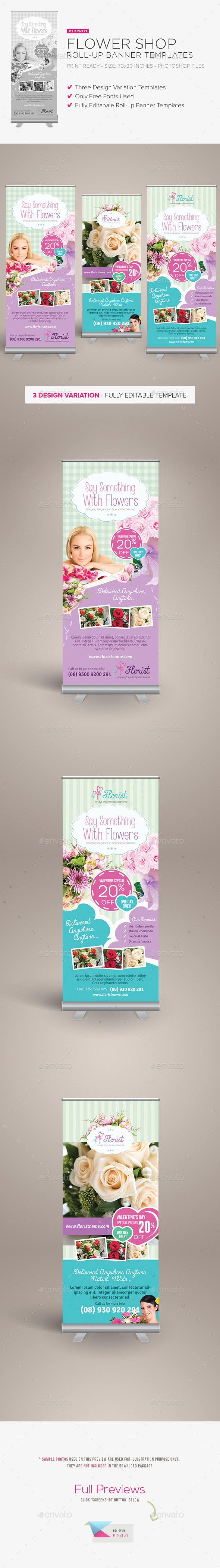GraphicRiver Flower Shop Roll-up Banners 9997670