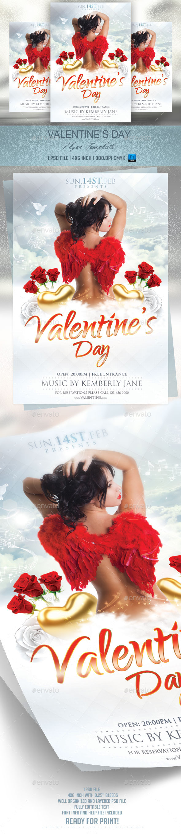 GraphicRiver Valentines Day Flyer Template v2 9997716