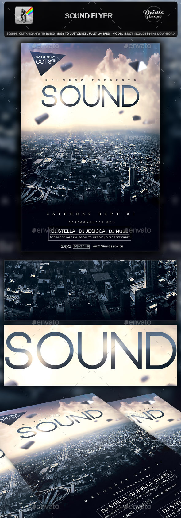 GraphicRiver Sound Flyer 9997807
