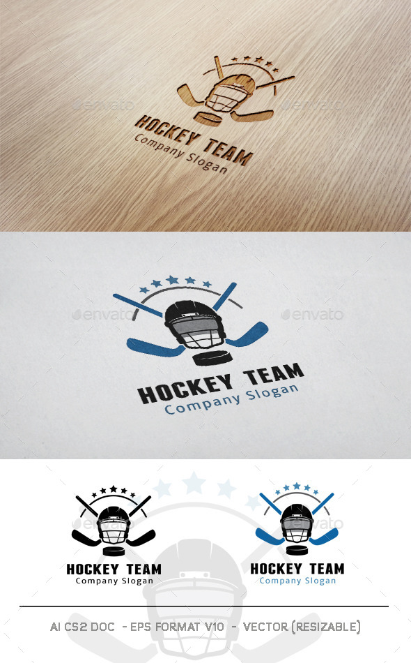 GraphicRiver Hockey Team Logo 9997819