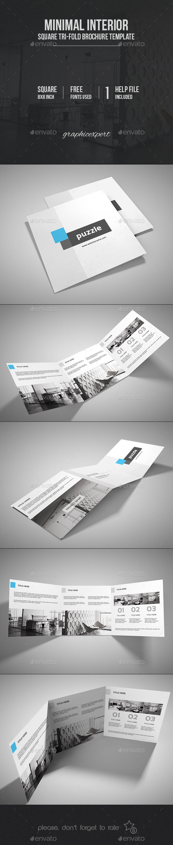 GraphicRiver Minimal Square Tri-Fold Brochure Interior 9997873