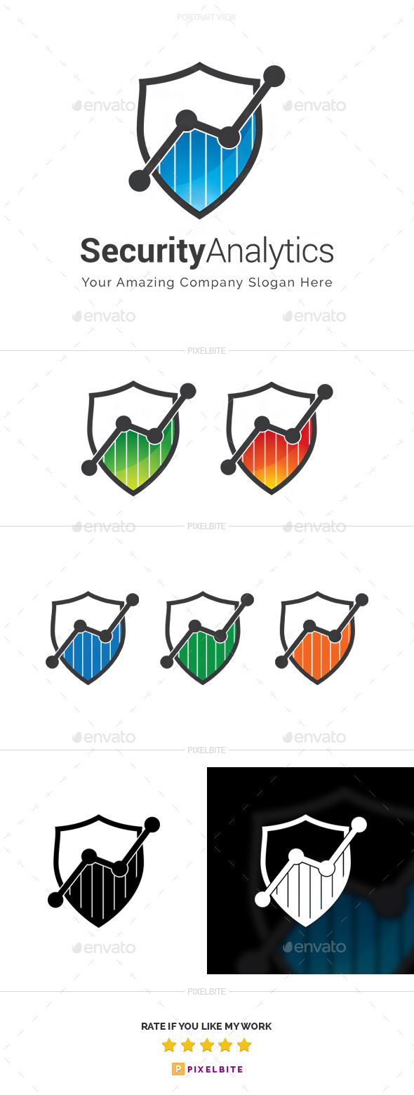 GraphicRiver Security Analytics Logo Template 9997949